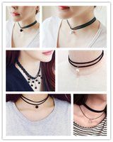 Wholesale new fashion black clavicle chokers collar necklaces lace female charmful choker necklace lace for girls women dhl