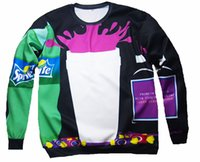 Wholesale Funny Sportswear Clothing jacket women men hoodies Bar Cup Sprite Drink cookie print d sweatshirt size S XXL