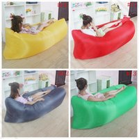 Wholesale Fast Inflatable Air Sleeping Bag Colorful Waterproof Lazy Sofa Bed Outdoor Camping Hiking Hangout Beach Bag Bed OOA1209