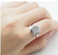 Wholesale 2016 New Elegant Pandora Ring S ALE Diamond Crystal Ring finger Joint For Women Wedding Jewelry Set Fashion Bride lover Jewelry Sets