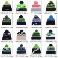 american fiber green - 2017 Seahawks Beanies Winter High Quality Green Beanie For Men American Football Women Skull Caps On Field Skullies Knit Cotton Hats
