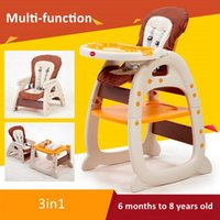 Wholesale 3 in Baby Dining Chair Table Multifunction Toddler Healthy Care Deluxe Children Learning Desk Chair Safety Harness
