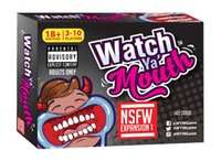 Wholesale Watch Ya Mouth Adult Phrase Card Game Expansion Pack Funny Family Party Christmas Board Game