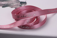 label printing - 1 mm logo printed brand stain ribbon Polyester Ribbon gift packaging ribbon labels accessory for Christmas festival