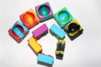Wholesale Cheapest Silicone Wax Silicone Jar Square Wax Container for mmX30mm dab Silicone Container