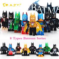 batman comics - 2017 PG8026 Kind of Marvel Comics Batman Mutants DC Universe The Dark Knight Rainbow Batman Bruce Wayne Building Blocks Toys