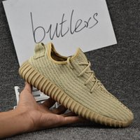Cheap 2017 With Box Adidas Originals Yeezy 350 Boost V2 Running Shoes Men Women Hot Sale SPLY-350 Yeezys Gray White Sports Shoes Size 5-11.5