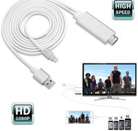 Wholesale Dock to HDMI HDTV TV Adapter USB Cable P for iPhone S S PLUS S PLUS7 plus HDMI Cable