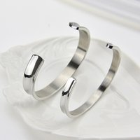Wholesale Europe and the United States C concave curvature of the opening couple of stainless steel cord bracelet Hair Tie Bracelet bracelet