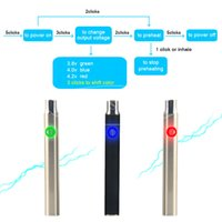 Non-Adjustable auto tanks - 510 Thread Pre heat Batteries for E Cig Variable Voltage eCig mAh Auto Preheating Battery for CBD Hemp Oil Cartridge Glass Tank