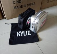 Wholesale Kylie Holiday Makeup Bags Kylie jenner Cosmetics Bag the Limited Birthday Collection Edition Brand Make up Sliver and Black Cosmetic Bag
