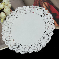 Wholesale quot mm White Round Lace Paper Doilies Vintage Coasters Placemat Craft Wedding Christmas Table Party Decoration