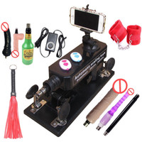 Wholesale Automatic Sex Machine Gun Set for Men Women Fucking Machine with Masturbation Cup Big Dildo Couple Game Sex Handcuffs and Leather Whip etc