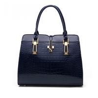 Wholesale new Luxury Fashion Women patent Crocodile PU Leather shoulder Bag Alligator Pattern Tote Handbag Messenger Bags purse