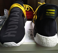 Bowling Flat Men Wailly PW NMD Human Race Pharrell Williams Shoes Sneakers Discount for sale,NMDs release in Green,Red, Shale Blue,Tangerine,Yellow and Black