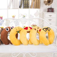 adult baby stuff - 5 Styles U Shpae Cushion Decorative Pillows Cute Lovely Emoji Smiley Pillows Cartoon Stuffed Plush Toys for Baby Kids Children