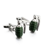 Wholesale 1 Pair JTL Fashion Accessories Brand New Cufflinks Grenade Design Cufflink for Male The Military Theme Cufflink for Gifts