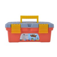 Wholesale High Quality Plastic Tool Box Tool Case With Black Tray Inside Packed in Master Carton