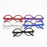 Wholesale HOT SALE Cool Cute Unisex Retro Fashion Round Oval Eyeglasses Glasses Big Frame No LENS