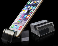 70mm*60mm*42mm acrylic desktop accessories - Mobile phone support bracket tray acrylic crystal lazy desktop accessories new design seat shop store display rack stand