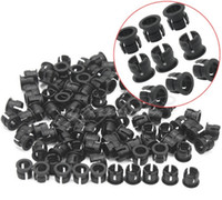 Wholesale 1000pcs mm Black Plastic LED Mounting Clip Holder Panel Display Case