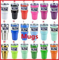 Wholesale Yeti colors oz ml Cups Cooler YETI Rambler Tumbler Travel Vehicle larger capacity Beer Mug Double Wall Bilayer Vacuum Insulated hot