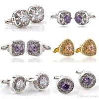 Wholesale Popular Jewelry Gems Crystals Men s Cufflinks Wedding Gift SLXK18020