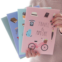 Precio de Cuadernos forrados diarios-Simple creativo B5 libreta grande del estudiante 16K diario Libro Cuaderno cuaderno línea libro Escuela oficina Artículos de escritorio Regalo