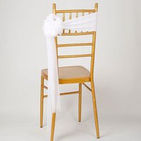 Wholesale Wedding Chair Sashes Multicolors Organza Chair Sashes Bow for Banquet Decoration Party Supplies ZA1888