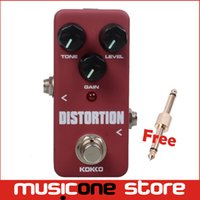 Wholesale KOKKO FDS2 Mini Distortion effect Pedal Portable Guitar Effect Pedal with gold Connector