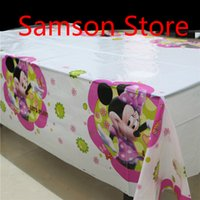 Wholesale Minnie mouse theme PE Table Cloth for kids happy birthday party decoration tablecover Event Party Supplies cm