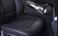 bamboo office mat - Sunzm High quality Breathable2pcs Car Interior Seat Cover Cushion Pad Mat for Auto Supplies Office Chair with PU Leather Bamboo Charcoal Car