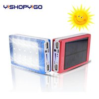 Wholesale Full capacity mAh led solar Power Bank Ultra Thin Slim Portable External Battery Backup