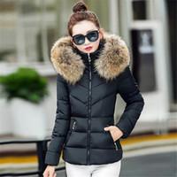 Wholesale Fake fur collar Parka down cotton jacket Winter Jacket Women thick Snow Wear Coat Lady Clothing Female Jackets Parkas