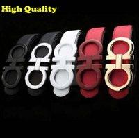 Wholesale New Quality luxury Belts mens cow leather belt brand designer Belts For Men Belts Gold silver Buckle