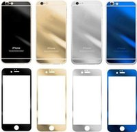 For Apple iPhone For iPhone 7 Anti-Scratch Colored Tempered Glass Film Screen Protector Color Plating Mirror Membrane Explosion Proof 9H For iphone7 7plus iPhone 6s 5s Front and Back