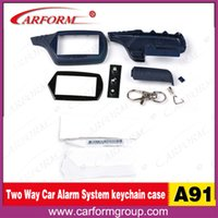 Wholesale Case Keychain Russia Two way car alarm starlionr A91 Case Keychain for way car alarm remote controller
