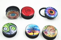 Wholesale Free Shippment Body Jewelry Acrylic Logos Life Tree Skull Head Ear Plugs Ear Tunnels Earlets Gauges Mix Gauges mm up to mm