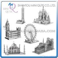 architecture london - DHL Piece Fun D World architecture Notre Dame de Paris Taj Mahal London Eye Metal Puzzle adult models educational toy