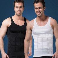 Wholesale Men s Body Shaper Men Slimming Shirt Tummy Waist Vest Lose Weight Underwear Tummy Belly Shapewear Slim Compression Muscle Tank OOA1204
