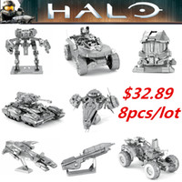 Wholesale 2016 New Arrival Halo D Laser Cutting Metal Model Puzzle Toys DIY Assembled Gift Halo Jigsaw Puzzles