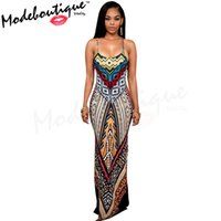 Wholesale Spaghetti Strap Dresses Women - MinBoutique Women Dress Printed Color M1675