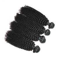 6A Kinky Curly cheveux malaisiens Remy Virgin Hair Extension 4Pcs / lot Healthy Donor Jerry Curl peut être teint Restyled