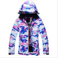 Wholesale 2016 winter NEW Ski suit Women winter thickening waterproof windproofBreathab thermal outdoor skiing clothing monoboard ski jacket female