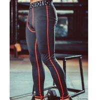 Wholesale Plus Size Mens Compression Pants Sports Running Tights Basketball Gym Fitness Trousers Bodybuilding Jogging Skinny Leggings