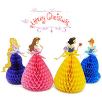 Wholesale DIY Honeycomb Ball Hanging Party Supplies Eairy tale princessHoneycomb paper Birthday holiday card Christmas wedding decoration