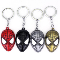 Alloy amazing lovers - 2017 new Super Hero Spider man The Amazing Spiderman Keychain Metal Key Chain Keyring Key Rings
