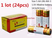 AA alkaline aa battery - 24pcs Size AA LR6 AM V Dry Alkaline Battery No Leakage Oil Volt Batteries