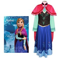Acheter Manteau anna anna-Kukucos Femmes adultes Nouveau syle Frozen Princess Anna Robe Costume Costume Jung Girl Cosplay Costume Halloween Party Dress