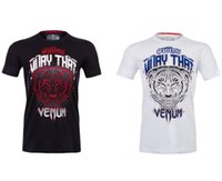 Wholesale MMA new styles sport tiger T shirt Muay Thai synthesis training black